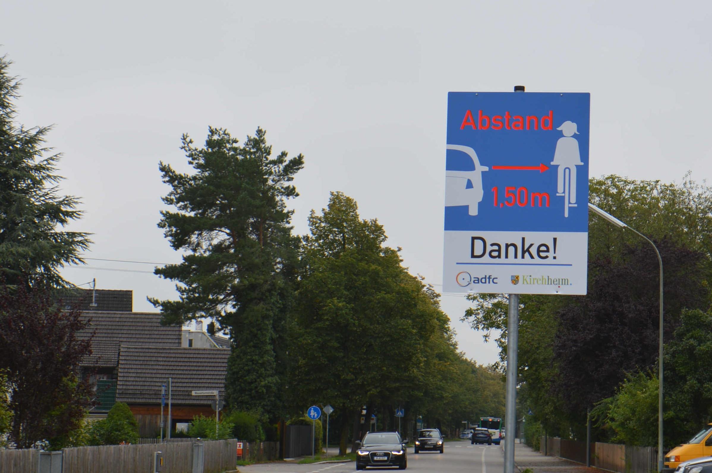 1,5 Meter Abstands-Schilder für Radler